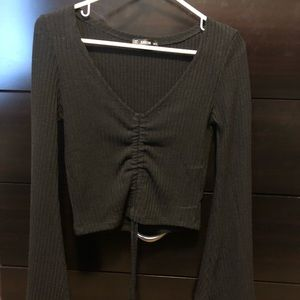 SHEIN long sleeve cropped top